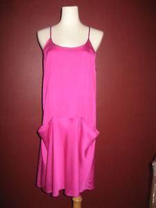 275NWT-Theory-Alesandra-Vibrant-Racerback-Dress-US-6-Neon-Pink