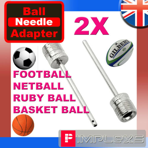 Inflator needle air pin valve adapter pump football rugby net ball volley soccer
