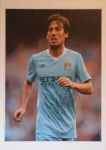 David Silva firmato Manchester City Foto un-framed COA grandi 16x12