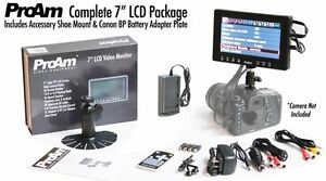 NR-ProAm-7-034-On-Camera-Crane-LCD-Video-Monitor-Kit-Canon-BP-Battery-Adapter