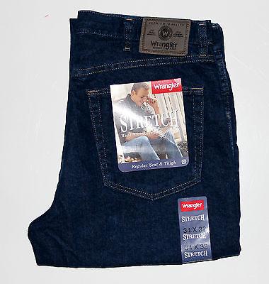 Wrangler Men`s Stretch Jeans Regular Fit. Indigo, Black, Bleach. New. All Sizes