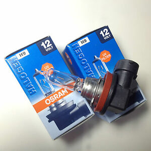 2X-OSRAM-Sylvania-65W-12V-H9-PGJ19-5-halogen-lamp-64213-Made-in-Germany