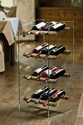 Wine rack, wine holder - modern glass design VETROSTYLE MAXI