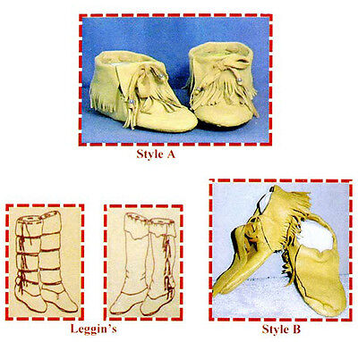Native American Sioux Indian Traditional Moccasin & Leggings Sewing Pattern