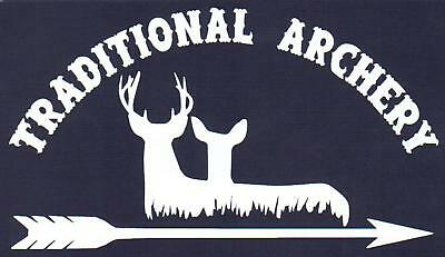 Hunting Decal Traditional Archery Deer