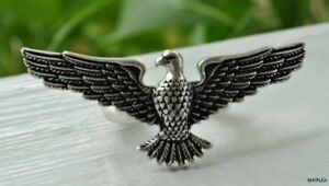 Lucky-Brand-Antiqued-Silver-Majestic-EAGLE-Ring-NEW