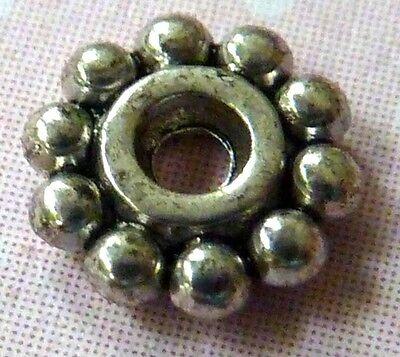 Metall Spacer DAISY 6,5 mm Zwischenperlen silber Blume 1557