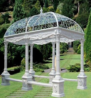 BEAUTIFUL CAST IRON VICTORIAN STYLE RECT. GAZEBOS #6