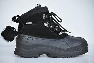 LABO-Mens-Winter-Snow-Boots-Shoes-Black-6-034-Genuine-Leather-Warm-Waterproof-sizes