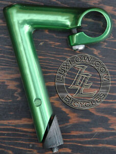 Green-Alloy-FIXIE-Bicycle-Quill-Stem-22-2mm-Vintage-Fixed-Gear-Track-Road-Bike