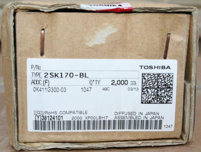 4x Toshiba Original 2SK170BL (2 Matched pairs)