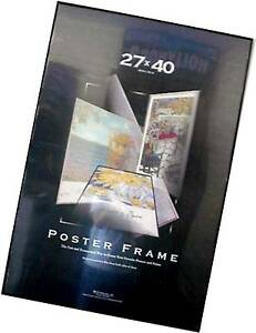 27x40 movie poster frame black thin profile black edges quality value assembled ebay. Black Bedroom Furniture Sets. Home Design Ideas