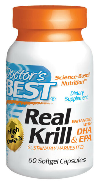 Real Krill Enhanced with Dha & Epa 60 VC -Doctor's Best