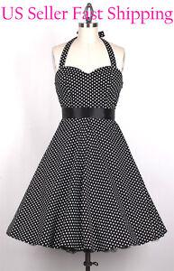 50s-SmallWhiteDot-Black-PLUS-Size-3X-Vintage-Pinup-Polka-Dot-Swing-Dress