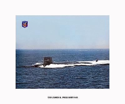 USS JAMES K. POLK SSBN 645 --Boomer,  US Naval submarine ,  USN Navy