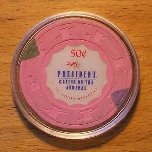 50-CENT-PRESIDENT-CASINO-CHIP-ON-THE-ADMIRAL-ST-LOUIS-Shipping-Discounts