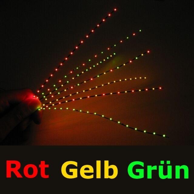 S491 Mini LED Lichterkette rot gelb grün nur 1,4mm schmal Kirmes Rummel Disco