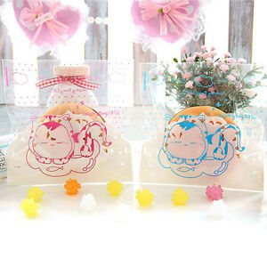 BABY-CAT-50-Cello-Self-Adhesive-Seal-Gift-Bag-Favor-Party-Goodie-Candy-Treat
