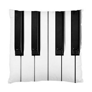 piano keys keyboard cushion pillow case ebay. Black Bedroom Furniture Sets. Home Design Ideas