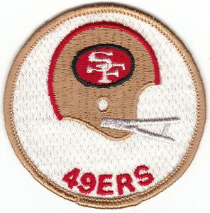 "Vintage 1970s San Francisco 49ers 3"" Round 2-Bar Helmet Patch (sew on)"