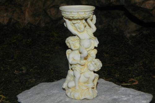 Dollhouse Miniature Angel Bird Bath Garden Accessory Diorama Pedestal for Statue