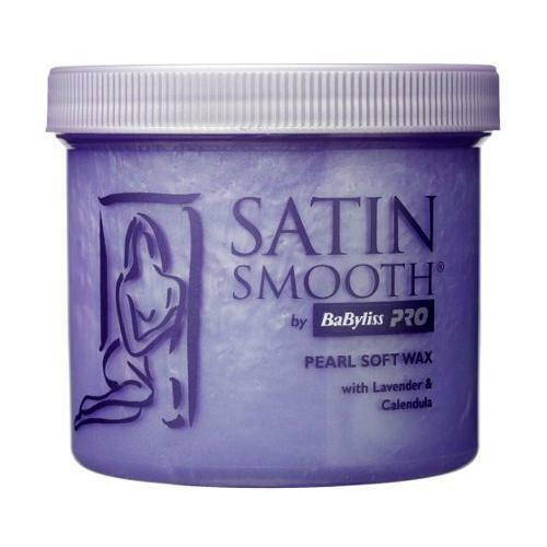 BaByliss Pro Satin Smooth Pearl Wax Waxing Lotion With Lavender & Calendula 425g