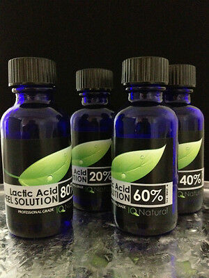 2 oz Professional Cosmetic Grade LACTIC ACID Peel AHA Acne Skin Lightening