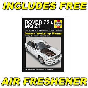 Haynes-Officina-Riparazione-Manuale-Di-Istruzioni-Rover-75-MG-ZT-S-to-06-Reg