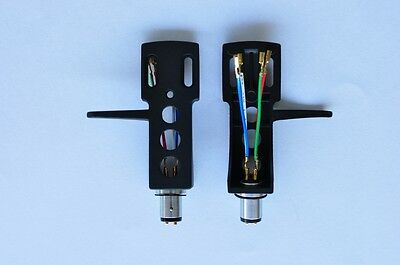 NEW Turntable Headshell fits Technics SL 1200 MKII has Gold Plated Leads Cables