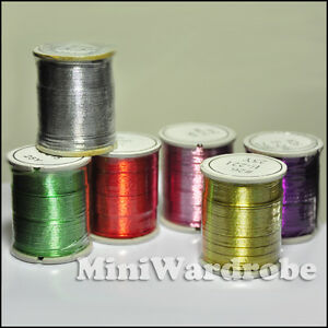 Floral-Spool-Wires-Craft-Jewelry-26Gauge-25yrd-Silver-Gold-Green-Red-Purple
