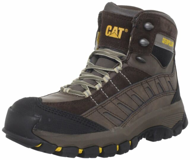 Caterpillar SENSOR HI Mens Work Safety and Hiking Trail Boot Espesso Chocolate.