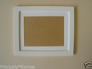 image is loading white wooden 8x8 picture frame with white mount