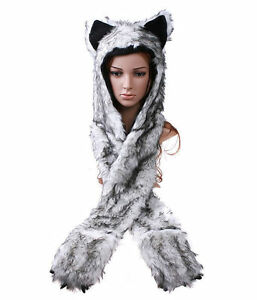 Multifunctional-Cartoon-Animal-Timber-Wolf-Plush-Soft-Warm-Cap-Hat-H2785