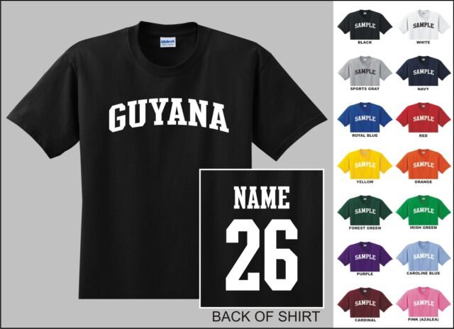 Country Of Guyana College Letter Custom Name & Number Personalized T-shirt