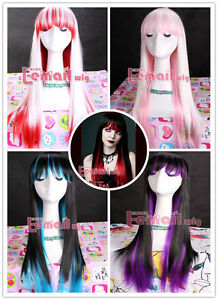 Long-Japan-anime-Straight-Blend-multi-color-Cosplay-Girl-Hair-Wig-4-selections