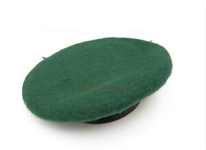 NEW-Green-Beret-100-Wool-Leather-Banded-All-sizes-Army-Royal-Marine-Commando