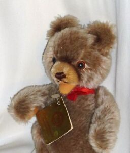 Vintage-Taupe-Hermann-Teddy-Bear-Original-with-Tag