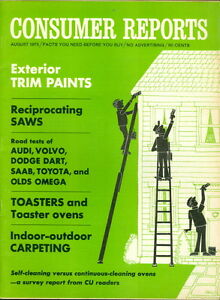 1973 consumer reports exterior trim paints road tests audi volvo dodge. Black Bedroom Furniture Sets. Home Design Ideas