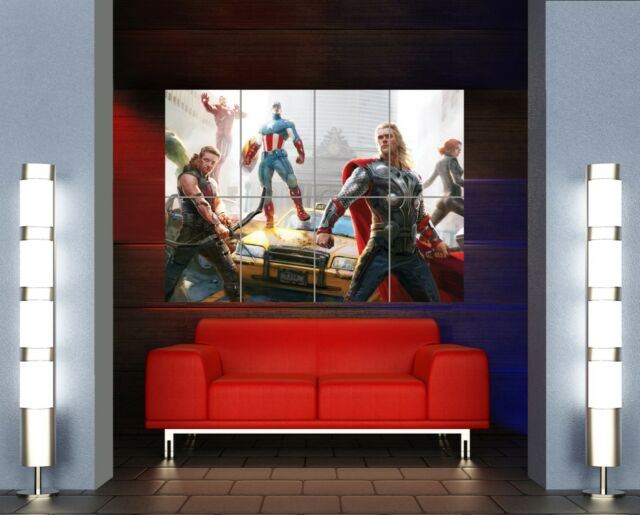 the avengers comic book super heroes giant wall art print picture poster mr351