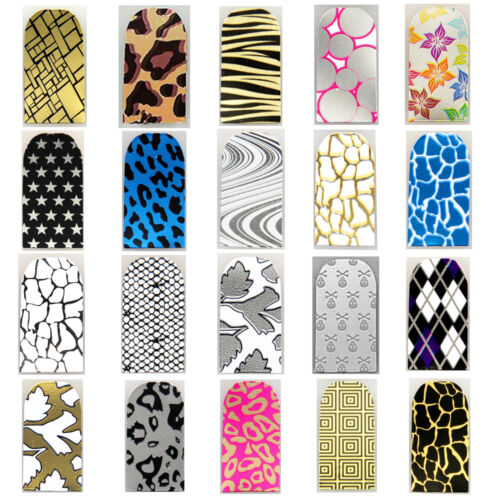 16pcs Nail Foil Nail Art Sticker Patch Nail  Wraps for Fingers & Toes 199218