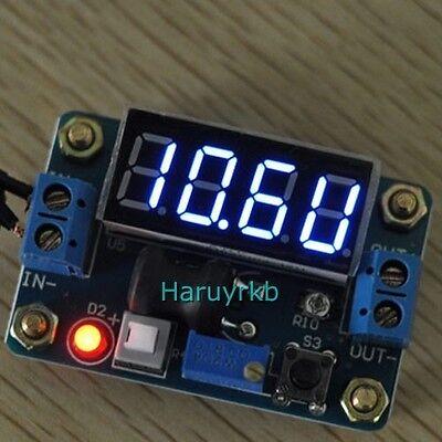 12V to 5V 2A Voltage Regulator DC-DC Buck Converter Voltmeter Ammeter Blue LED