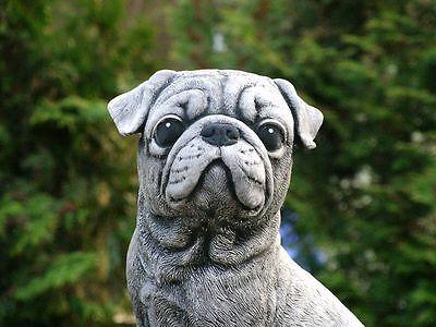Steinfigur Nr.088 Welpe Hund Bulldog Mops klein ca. 19 cm ca. 2,7 kg Frostfest