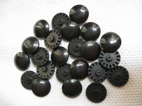 23 BOUTONS ANCIENS PLASTIQUE STYLE RETRO VINTAGE--20 mm--NOIR--N°22