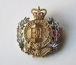 Issue-Royal-Engineers-RE-CAP-BADGE-Beret-Badge-British-Army