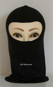 New-Black-SILK-Balaclava-for-Motorcycle-Motorbike-Skiing-Snowboarding-One-Size