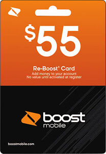 Boost-Mobile-55-Unlimited-Plan-Refill-Card-Topup-Air-Time-Discount-No-Tax