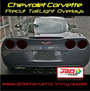 05-13 Corvette C6 smoked Complete HEAD /& TAIL light tint covers vinyl overlays