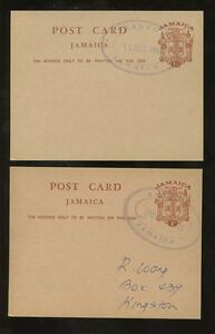 JAMAICA 1968-70 STATIONERY CARDS 1c + 1 1/2d STERLING + DECIMAL...BEAUFORT TRO