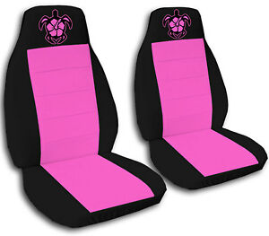 Cute Set Turtle W Hibiscus Front Car Seat Covers Choose