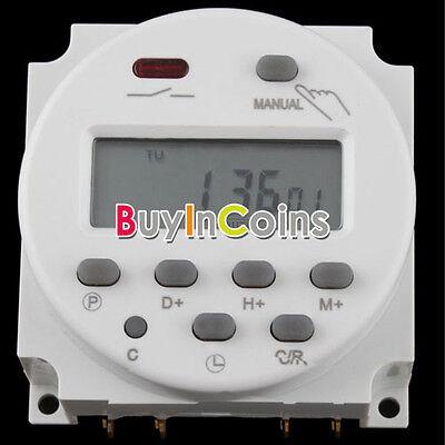Digital LCD AC 220V-240V Power Programmable Time Switch 2 Timeset Option